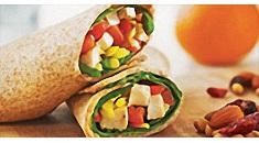 Citrus Chicken & Veggie Wrap