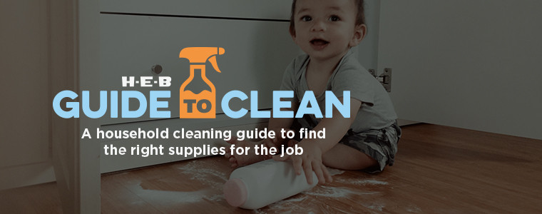 A household cleaning guide to find the right supplies for the job