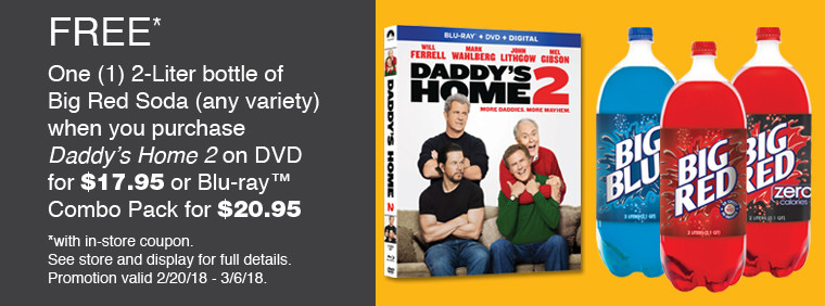 Daddy's Home 2 Big Red Offer