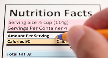 Read Nutrition Facts Panel