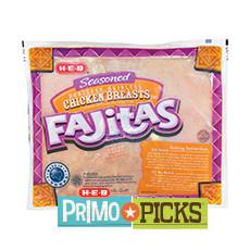 H‑E‑B Boneless Skinless Seasoned Chicken Breasts for Fajitas