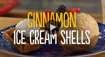 Cinnamon Ice Cream Shells