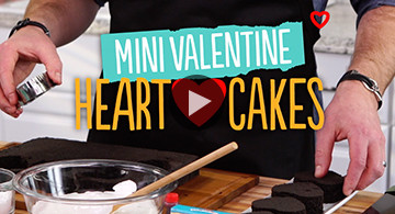 Valentine Mini Heart Cakes