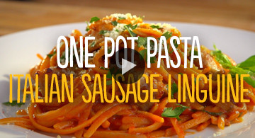 One Pot Pasta Italian Sausage Linguine