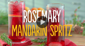 Rosemary Mandarin Spritz Holiday Cocktail