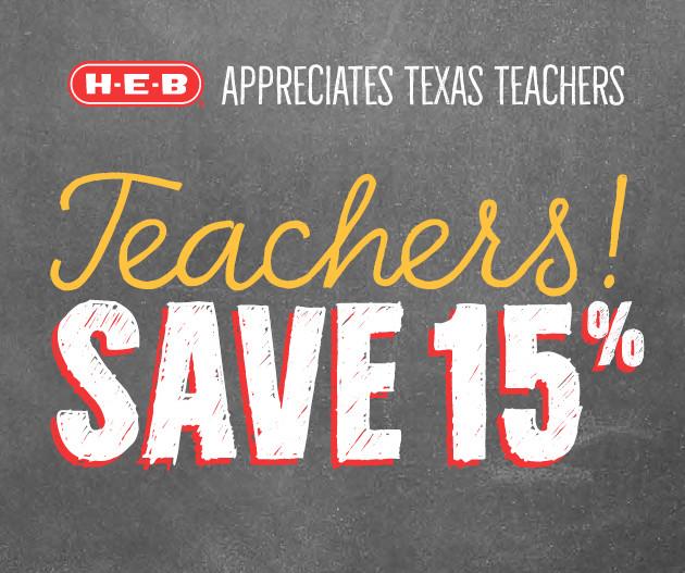 Teacher Discount At H‑E‑B   Sign Up Ends 8/1   HEB com