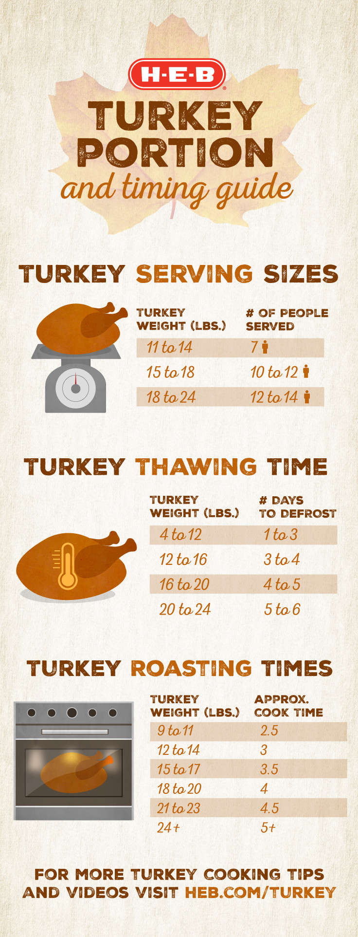 Turkey Timing and Portion Guide