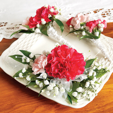 Carnations Corsage/Boutonnieres