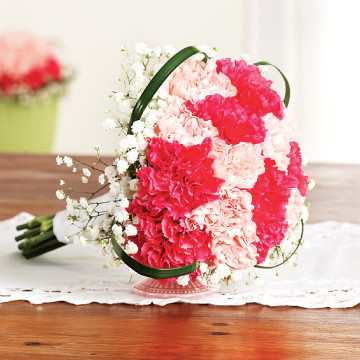 Carnations Bridesmaids Bouquet