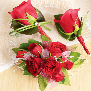 Rose Corsage/Boutonnieres