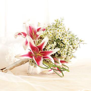 Stargazers Toss Bouquet