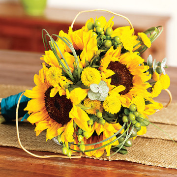 Sunflower Maid of Honor Bouquet