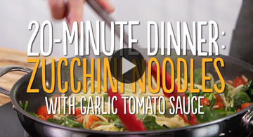 20-Minute Zucchini Noodle Dinner