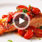 Tomato Butter Glazed Salmon