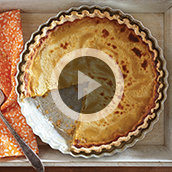 Horchata Pumpkin Pie with Cheesecake Swirl Video