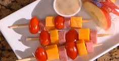 Mini Ham and Cheese Kabobs