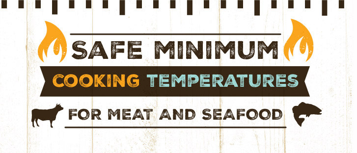 cooking temperatures for meat and seafood