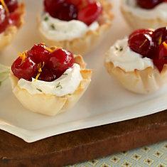 Phyllo and Cranberry Cream Cheese Bites