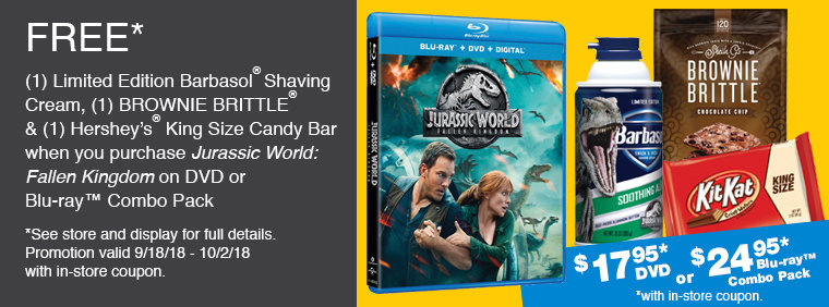 Jurassic World Fallen Kingdom In-store Offer