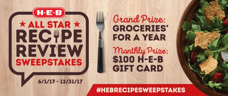 H‑E‑B Recipe Review Sweepstakes