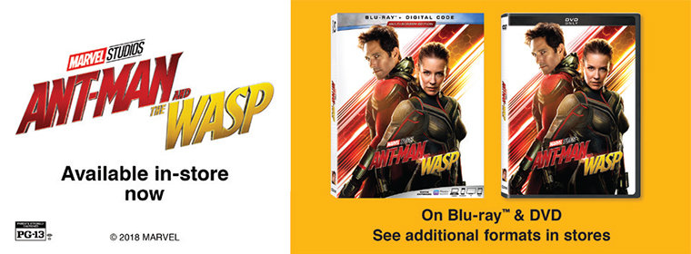 Ant-Man and the Wasp Available Now on Blu-ray and DVD