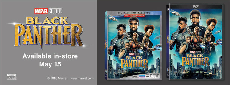 Black Panther Available In-store May 15th