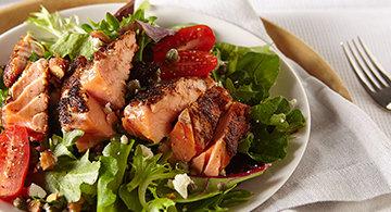 Blackened Rojo Salmon Salad