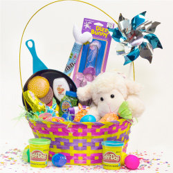 Ideas for homemade easter baskets heb child easter basket negle Images