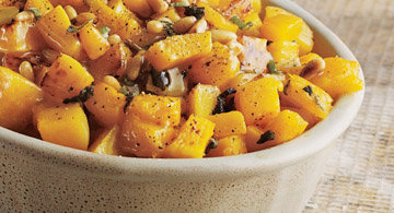 Roasted Butternut Squash With Sage Honey Butter
