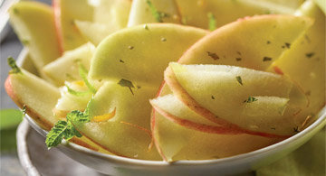 Citrus Marinated Fuji Apples with Mint