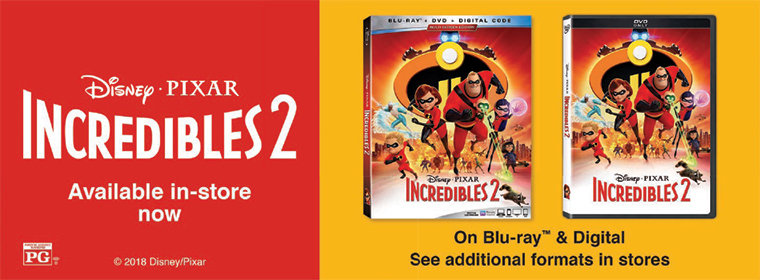 Incredibles 2 Available Now