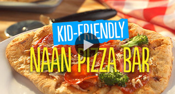Kid-Friendly Naan Pizza Bar