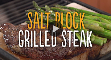 Salt Block Grilled Steak