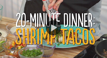 Watch 20-Minute Shrimp Taco Dinner