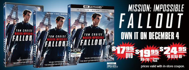 Mission: Impossible Fallout Available December 4th