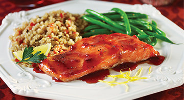 Raspberry Chipotle Grilled Salmon