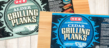 H-E-B Fish Grilling Planks 2 pks., cedar or alder wood