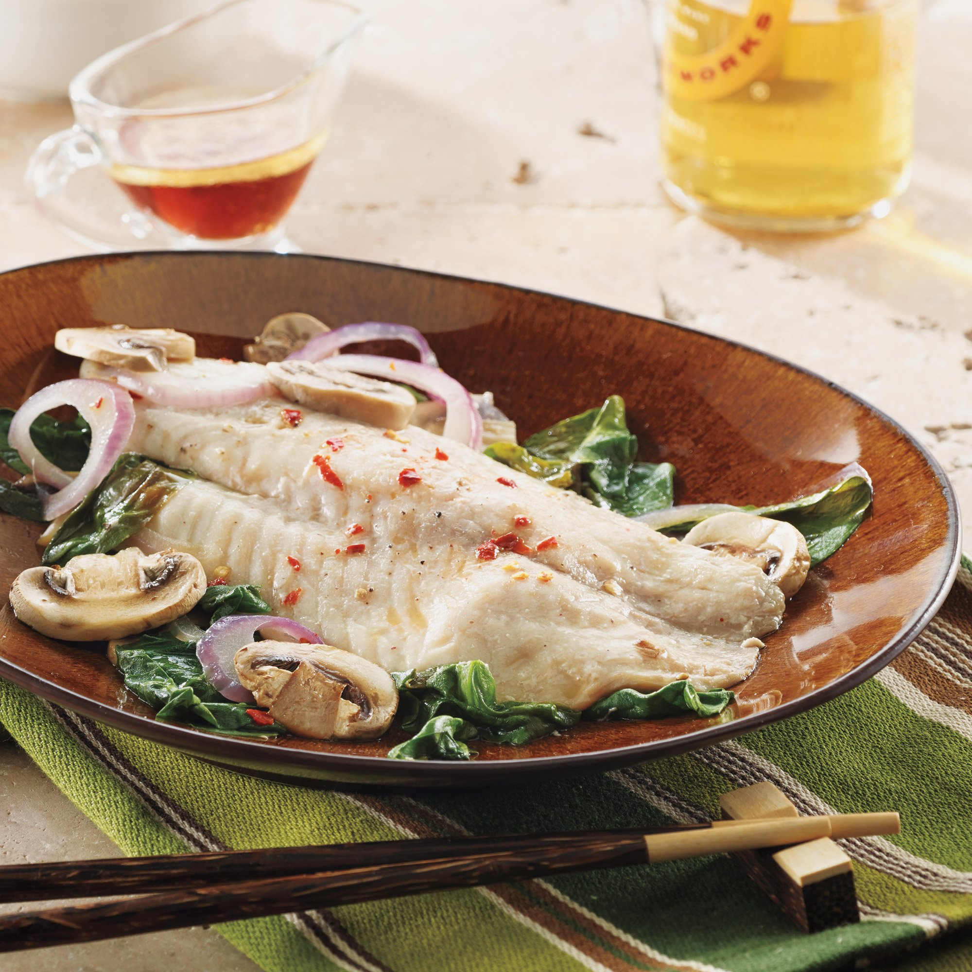 asian-style tilapia packets