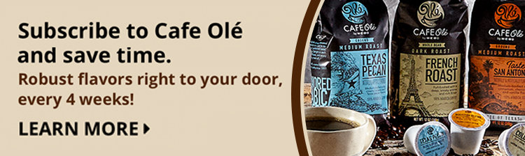 Subscribe to Cafe Olé and save time.