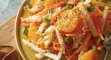Julienned Asian Pear and Carrot Salad