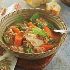 Ancient Grain and Turkey Soup