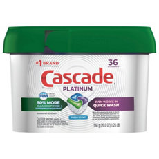 Cascade<sup>&reg;</sup> Complete<sup>&trade;</sup> Powder Dishwasher Detergent, Fresh Scent