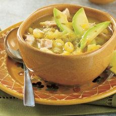 Green Chili & Turkey Soup