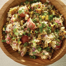 Grilled Corn Potato Salad