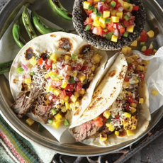 Grilled Steak and Corn Fajitas