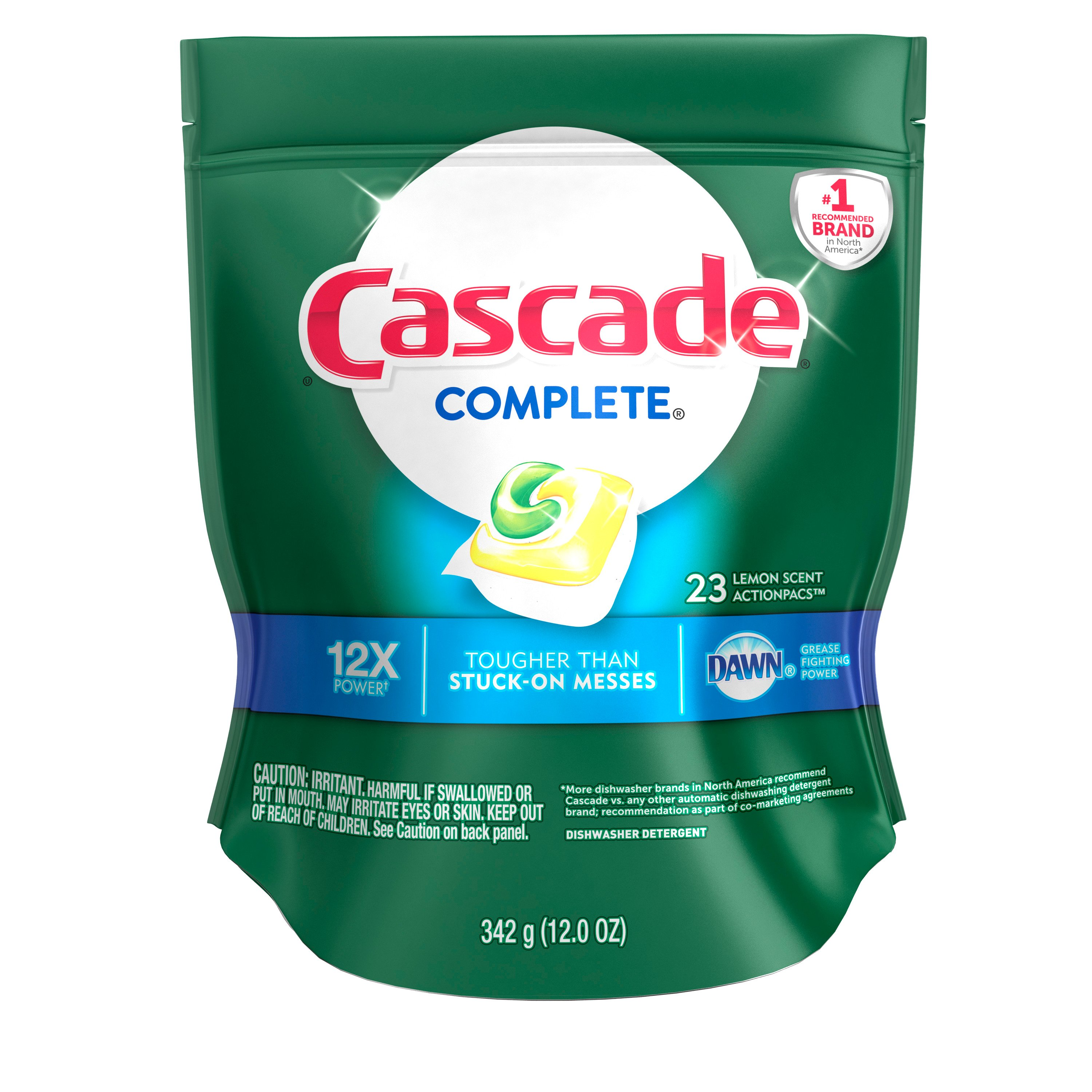 Cascade<sup>&reg;</sup> Complete<sup>&trade;</sup> Actionpacs<sup>&trade;</sup> Dishwasher Detergent, Lemon Burst