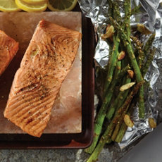 Salt Block Grilled Salmon