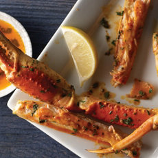 Smoky Butter Basted Crab Legs