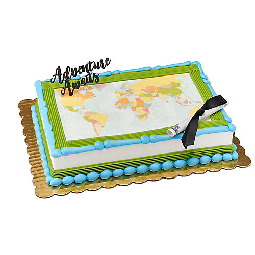 H-E-B Adventure Awaits Graduation Cake