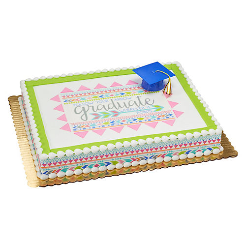 H-E-B Boho Chic Graduation Sheet Cake